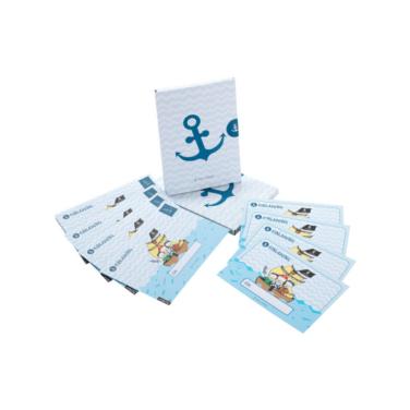 Geburtstags-Einladungskarten-Set für Jungs mit Piraten-Motiv, inkl. passender Briefumschläge