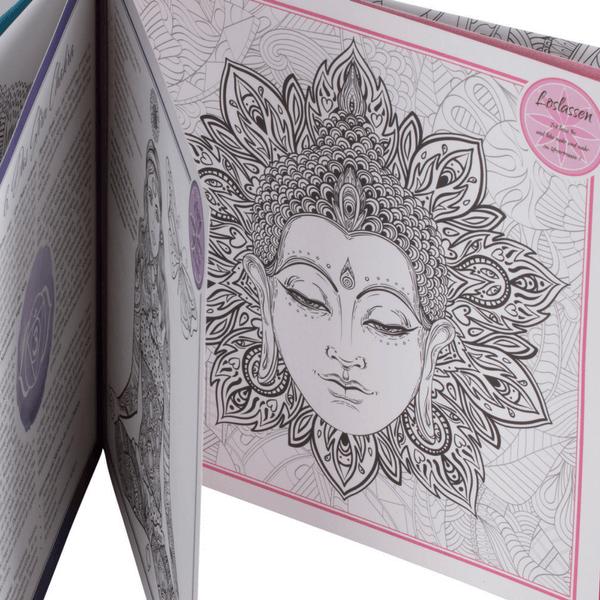 "Mandala-Motiv Göttin vom Malbuch für Erwachsene ""The Inspired Life"""