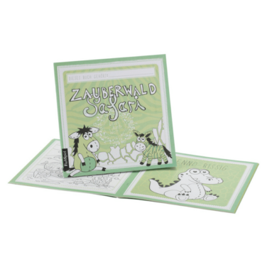 Zauberwald Safari Malbuch in grün für Kinder
