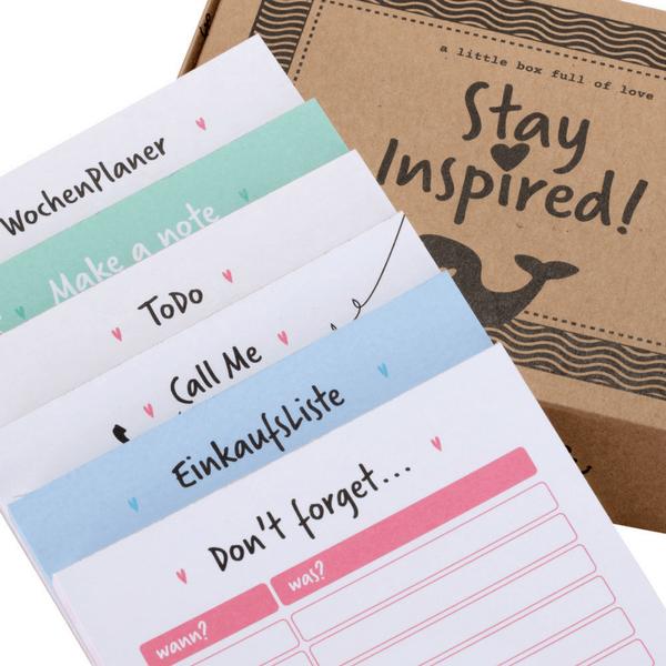 6 Notizblöcke für Wochenplanung, Erinnerungen, Anrufliste, ToDo-Liste,...