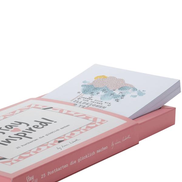 25-teiliges Postkarten-Set mit motivierenden und inspirierenden Sprüchen und Motiven