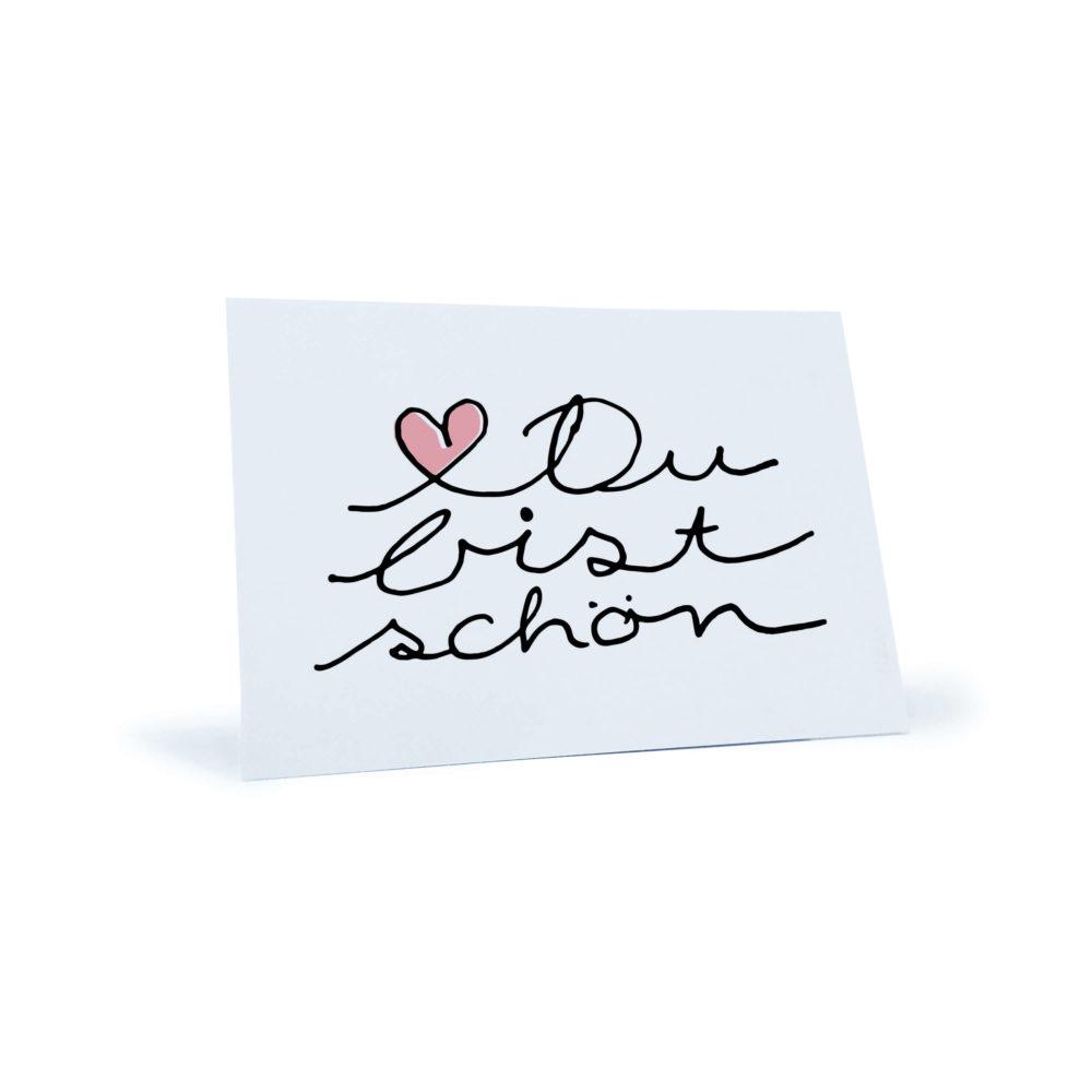 Herz-Postkarte Du bist schön - Stay Inspired!
