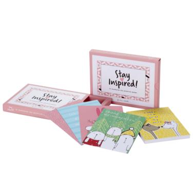 25-teiliges Weihnachtspostkarten-Set mit fröhlichen Farben und Motiven von Stay Inspired! by Lisa Wirth