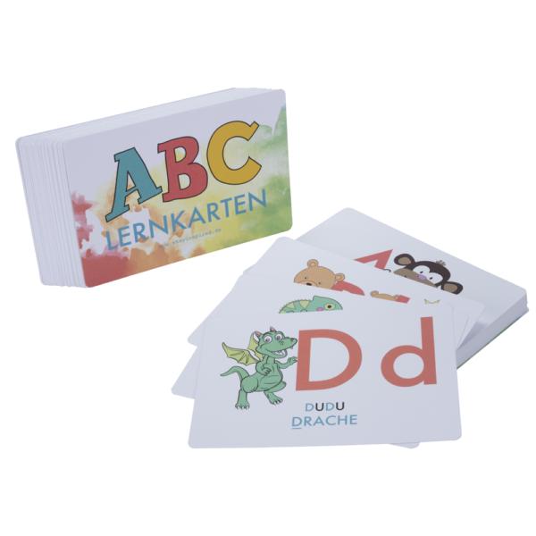 ABC-Lernkarten mit Tieren zum Üben und Beschreiben