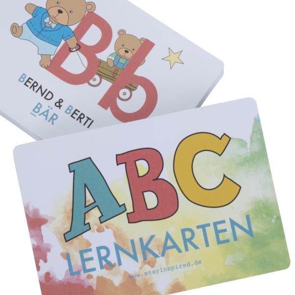 ABC-Lernkarten der Tiere für tierisch einfaches Alphabet lernen
