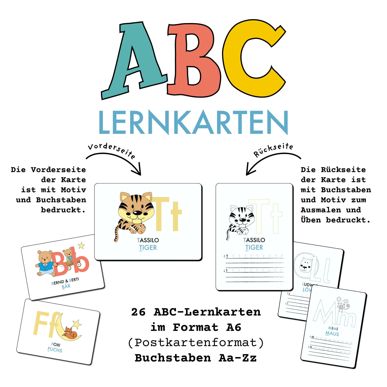 ABC Lernkarten der Tiere   Stay Inspired