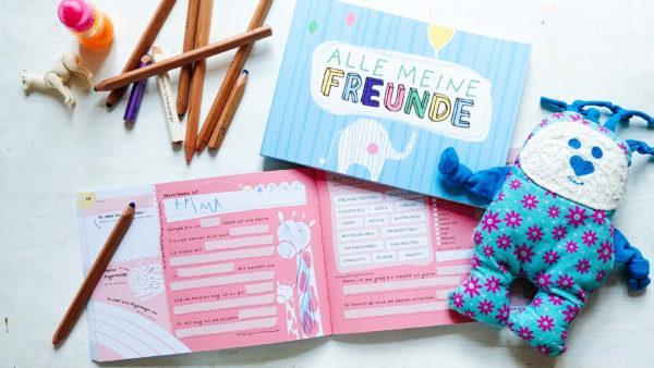 Freundebuch zum Ausfüllen für Jungs und Mädchen