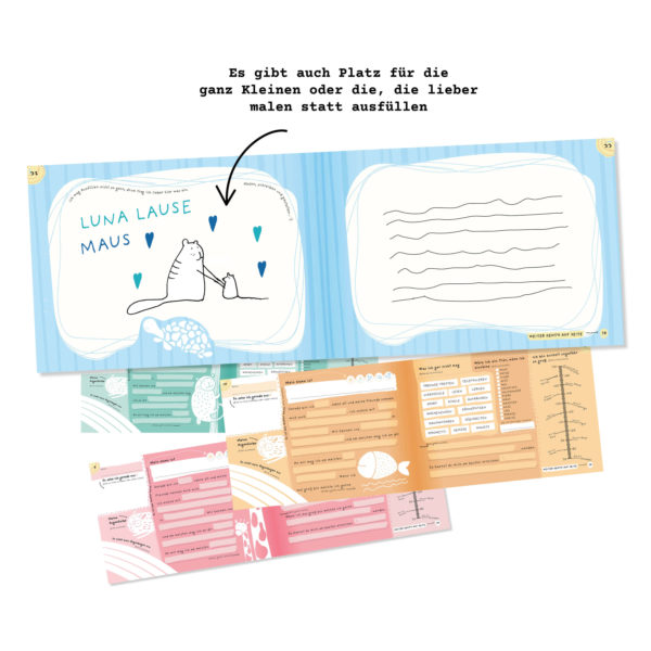 """Innenansicht des Freundebuchs """"Alle meine Freunde"""" von Stay Inspired! by Lisa Wirth"""