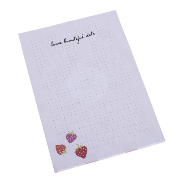 Noizblock im DIN A5-Format mit Dot Grid (Punkteraster) und Erdbeermotiv von Stay Inspired! by Lisa Wirth