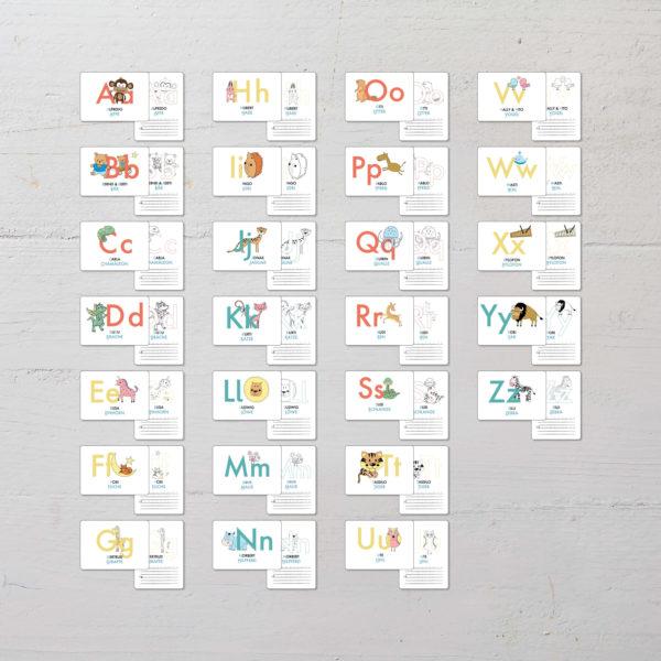 """Übersicht aller Lernkarten """"ABC der Tiere"""" von A bis Z"""