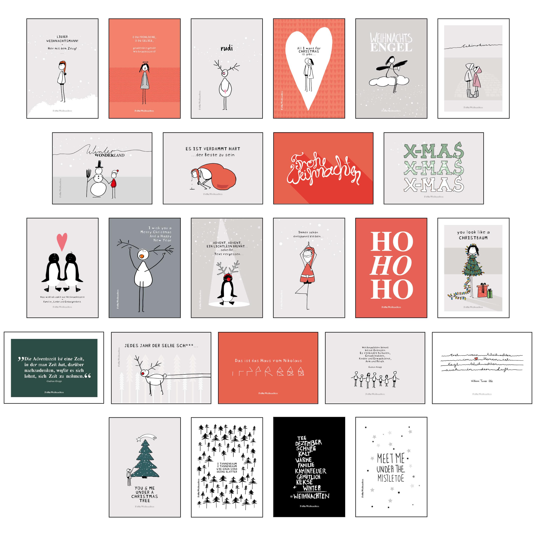 postkarten set 25 tlg mit wundersch nen motiven und spr chen. Black Bedroom Furniture Sets. Home Design Ideas