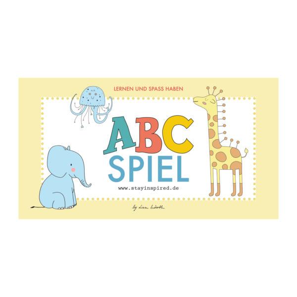 ABC-Spiel, Memospiel mit Alphabet und Tieren für Kinder im Kindergarten und Grundschule