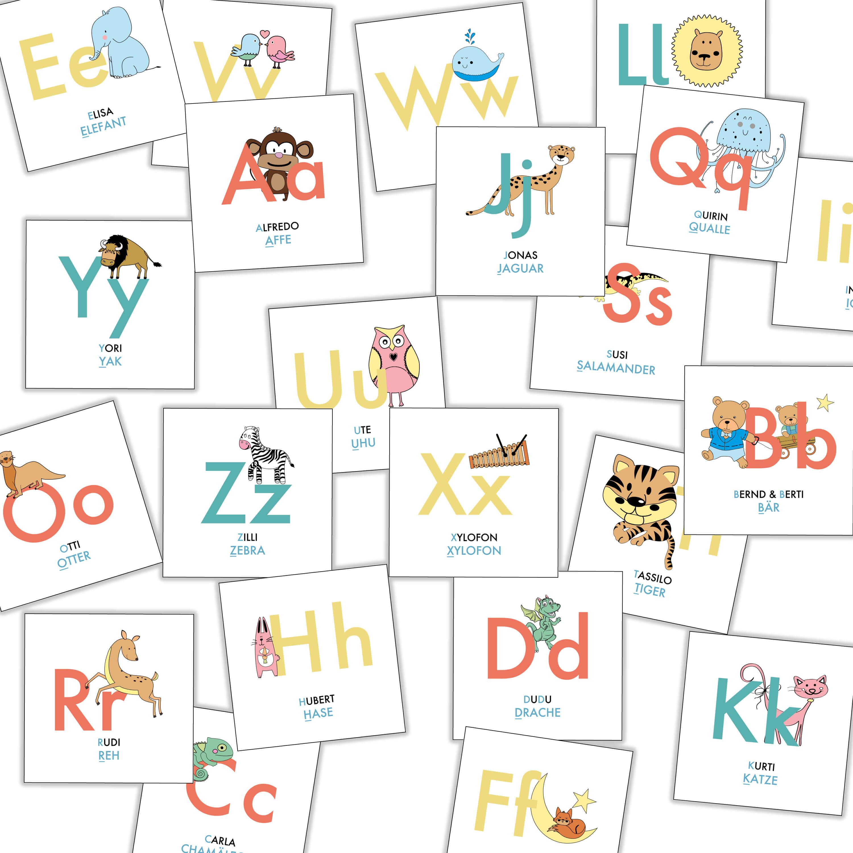 ABC Karten Lernspiel   Memo Spiel   Stay Inspired