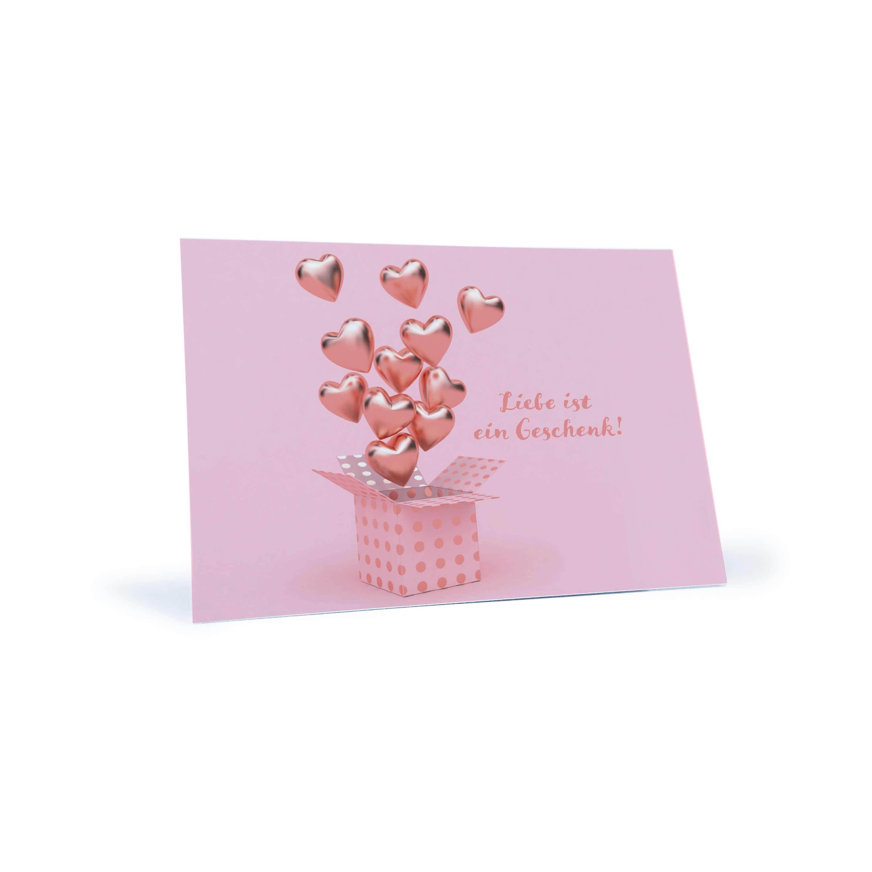 Romantische Postkarte Liebe Ist Ein Geschenk Kaufen Stay Inspired