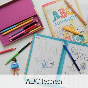 ABC-Malbuch zum Alphabet lernen für Kinder