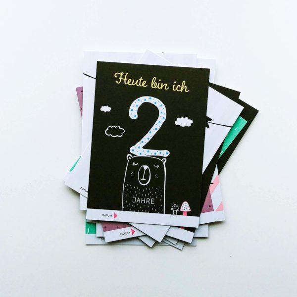 40-teiliges Set mit Meilenstein Karten für Mädchen und Junge