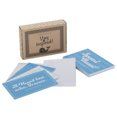 """25-teiliges Postkarten-Set inkl. Notizblock """"Monaco Franze"""""""