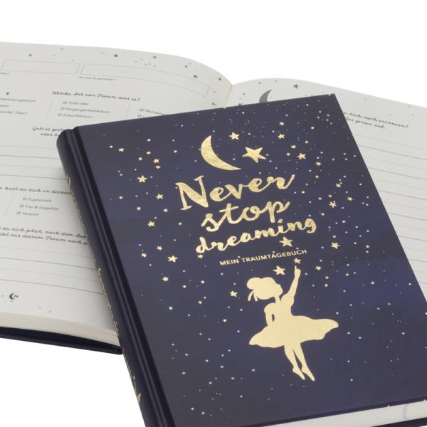 Traumtagebuch mit Gold-Akzenten für alle Nacht- und Tagträumer