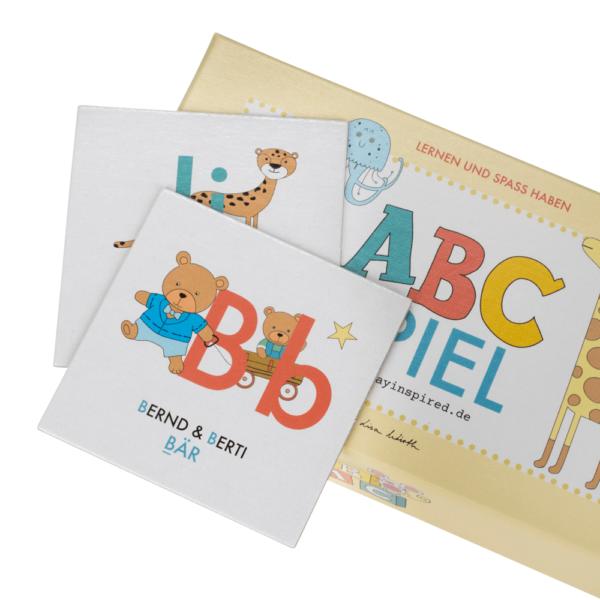 ABC-Memory-Spiel für Kinder zum Alphabet lernen mit Tieren