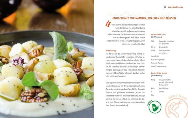 Rezept Gnocchi mit Topinambur, Trauben und Nüssen von Andreas Kaiblinger