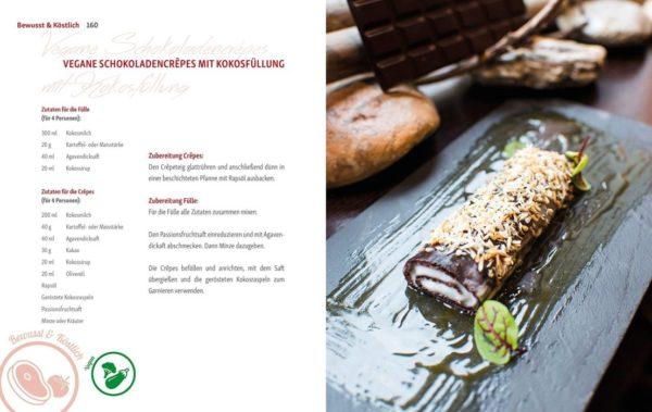 "Rezept ""vegane Schokoladencrêpres mit Kokosfüllung von Andreas Kaiblinger"