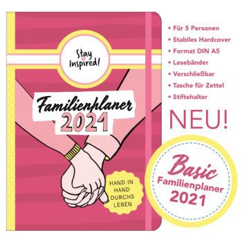 Familienplaner 2021, umfangreicher Hardcover Familienkalender 2021 für bis zu 5 Personen