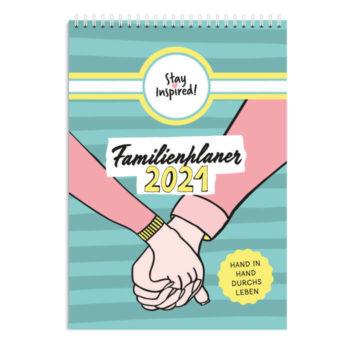 XXL Familienplaner 2021 zum Aufhängen, Wandkalender für Familien bis 6 Personen
