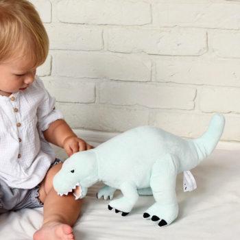 Plüsch-Dinosaurier für Jungs und Mädchen. Weicher Dinosaurier zum Spielen für Kinder